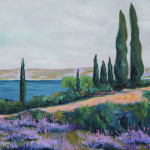 Pathway with cypresses, 50×40 cm, oil on canvas, 2013.