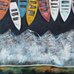 Boats, 80×50 cm, oil on canvas, 2013.