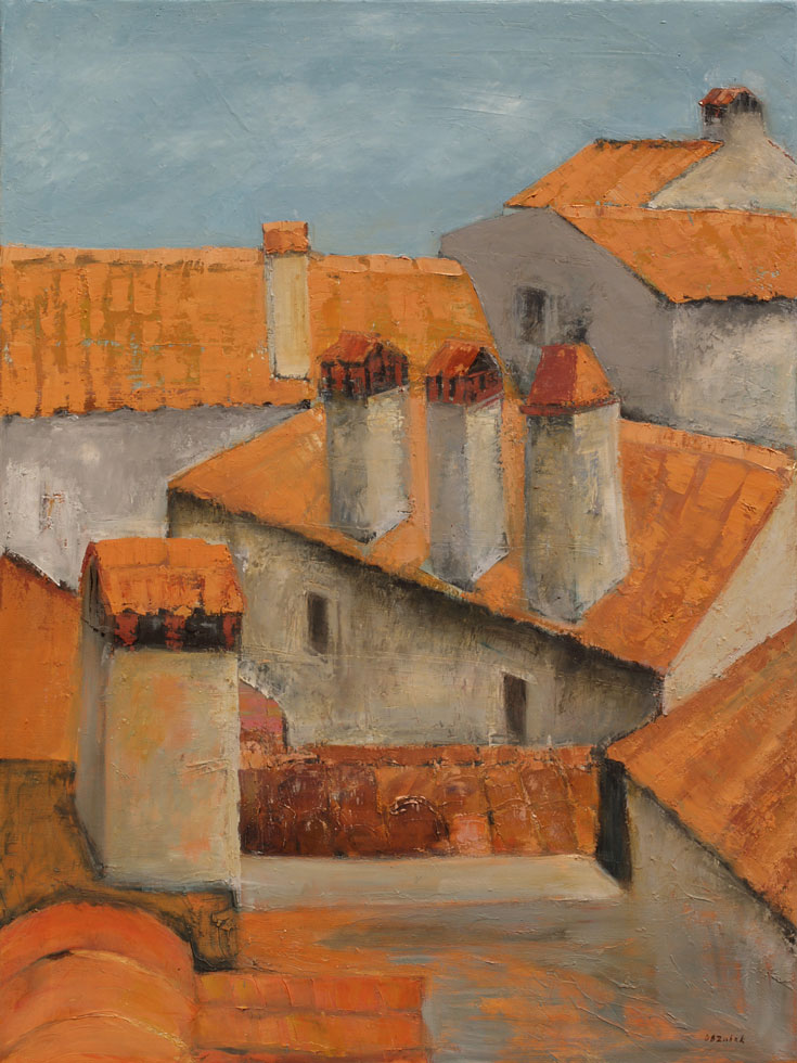 Roofs of Rovinj II, 60x80cm, oil on canvas, 2014.
