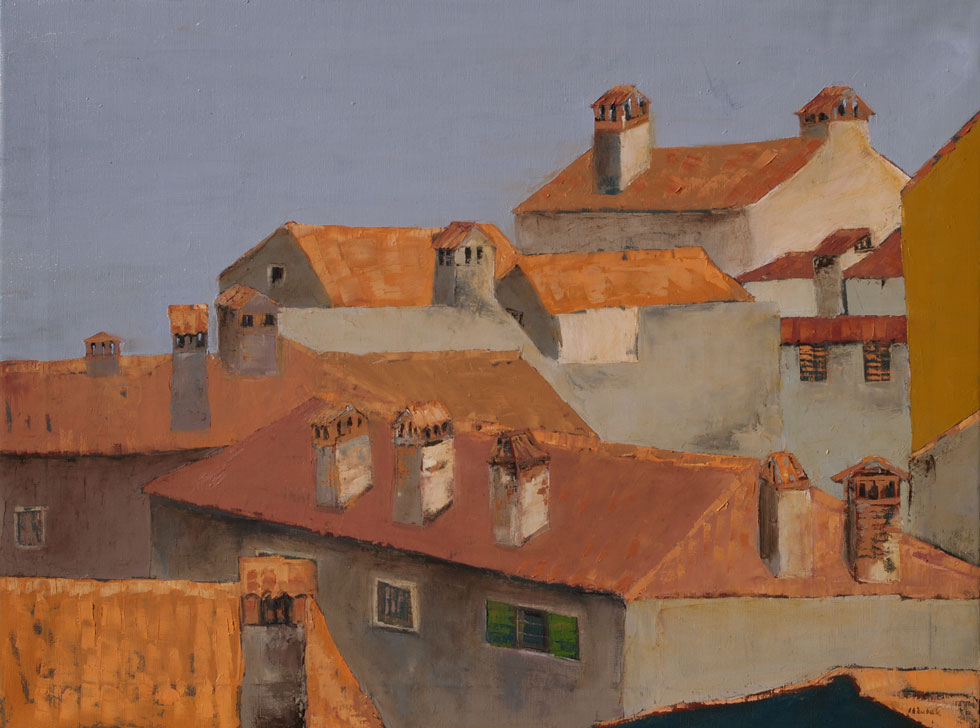 Roofs of Rovinj IV, 80x60cm, oil on canvas, 2014.