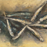 Sardines, 40x30 cm, oil on canvas, 2014.