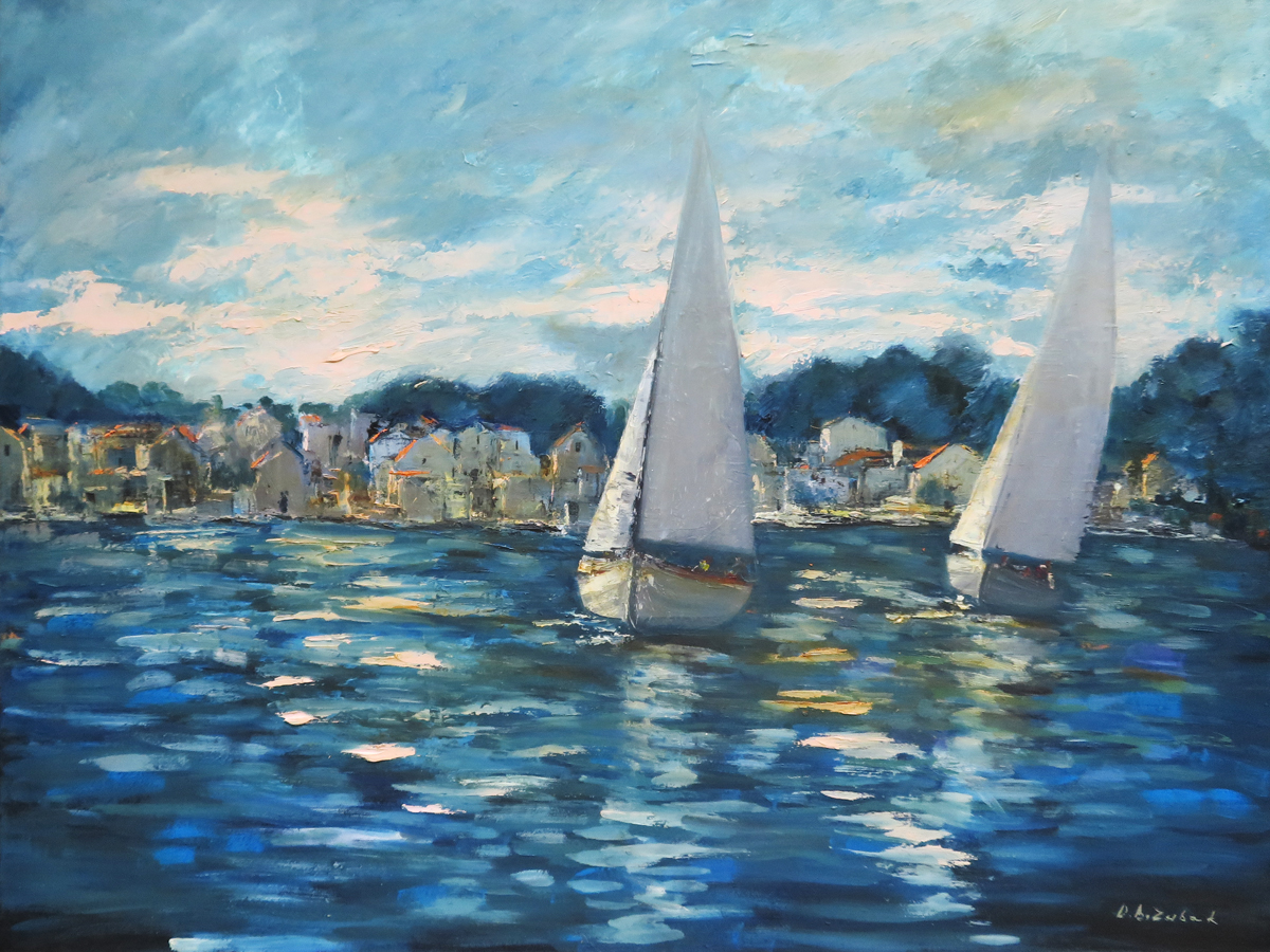 Sailboats I, 60x80 cm, oil on canvas, 2017.