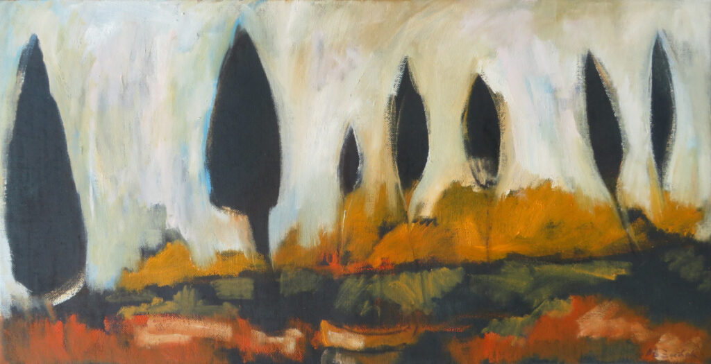 Landscape II, oil on canvas, 50x100 cm, 2020.